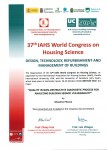 37° IAHS World Congress on Housing: Design, technology, refurbishment and management of buildings.